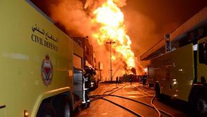 السعودية تعزز حماية منشآتها النفطية وتعلق الضخ للبحرين بعد حريق خط بوري