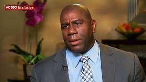 اسطورة كرة السلة الأمريكية ماجيك جونسون يرد لـCNN على اتهامات ستيرلينغ