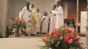 طقوس دينية من احتفالات مسيحيي الرباط بميلاد المسيح