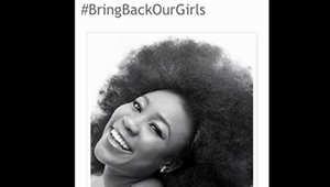 """صورة ملتقطة من حملة """"أعيدوا فتياتنا"""" التي شاركت فيها أدوكيبيي"""