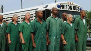 سجناء في أحد مراكز الإصلاح في لويزيانا