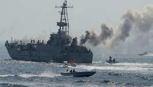 مناورات إيرانية 22 أبريل/ نيسان 2010