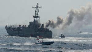 تدريب عسكري للقوات البحرية التابعة للحرس الثوري الإيراني 22 أبريل/ نيسان 2010