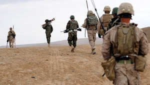 صورة من الارشيف لقوات أمريكية في أفغانستان