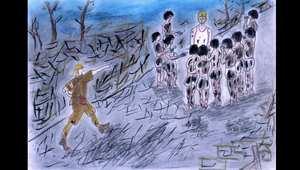 بالصور.. رسوم على يد الناجين من القنبلة الذرية باليابان تروي ذكريات لن يمحوها الزمن