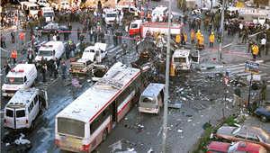 شخص فجر نفسه بحافلة في القدس ما أدى لمقتل 23 على الأقل 25 فبراير/ شباط 1996