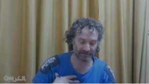 الأمريكي بيتر ثيو كورتيس أثناء احتجازه لدى جبهة النصرة