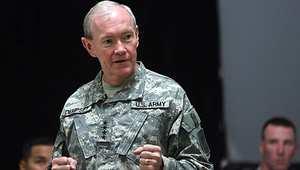 الجنرال مارتن ديمبسي في زيارة سابقة لبغداد 20 أبريل/ نيسان 2011