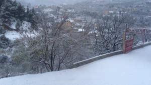 صورة للثلوج من بلدة نيحا، قضاء الشوف في لبنان - أرسلتها رحاب ذبيان