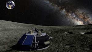 """روبوت من تصميم فريق """"Moon Express"""" المشارك بمسابقة  """"The Google Lunar X Prize"""""""