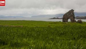 """""""هضبة الملائكة"""" في إيونا حيث اعتاد القديس كولومبا الصلاة هناك قبل تأسيس إرسالية ينسب إليها فضل نشر المسيحية في اسكتلندا"""