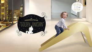عروض من دبي لشراء زلاقات أطفال مطلية بالذهب وأحدها مطعم بالياقوت