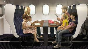 بالصور..هل تتخيل تصميم مقصورة للعائلات على متن الطائرات؟