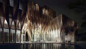 المصممة المعمارية زها حديد تقدم مفهوماً جديداً للنصب التذكارية في كمبوديا