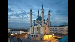 مدينة كازان على نهر الفولغا في روسيا