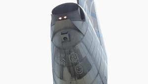 """كلمة """"باي باي"""" على ذيل طائرة تجارية تثير القلق لدى طاقمها"""