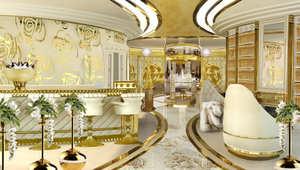بالصور..يخت ذهبي فاخر للسيدات يحقق حلم كل امرأة ثرية