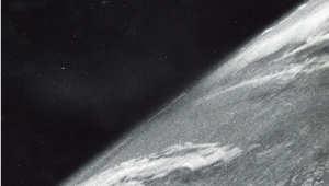 واحدة من مئات الصور النادرة لأول صور تلتقط للفضاء في 24 أكتوبر/تشرين الأول 1946