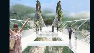بالصور..أعلى وأطول جسر زجاجي في العالم سيُفتتح في الصين