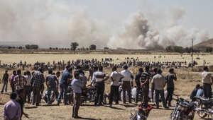 """التحالف الدولي يشن 18 غارة على """"عاصمة داعش"""" في الرقة بأكبر حملة جوية منذ بدء الصراع"""