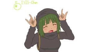 """تعرف على """"ISIS-chan"""".. شخصية كرتونية تسعى للقضاء على """"داعش"""" في عالم الإنترنت"""