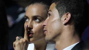 رونالدو وخطيبته الروسية إيرينا شايك في قرعة مرحلة المجموعات من دوري أبطال أوروبا