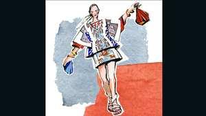 عارضات أزياء يتمخترن على الورق..وإغوائهن يتلون بالأحمر والأخضر والأصفر