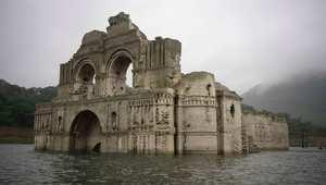 كنيسة غارقة لسنوات تعود للظهور في المكسيك