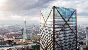 """ناطحة سحاب جديدة """"مربعة الشكل"""" تنافس برج شارد """"المثلث الشكل""""الأطول في لندن"""