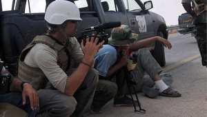 الصحفي الأمريكي جيمس فولي خلال تغطية صحفية في ليبيا 2011