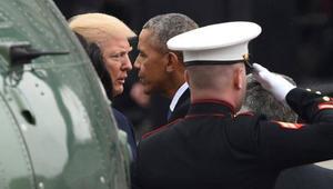 """فيصل القاسم """"يغص"""" على منظر وداع ترامب لأوباما: الأسد شرد نصف الشعب ليبقى"""