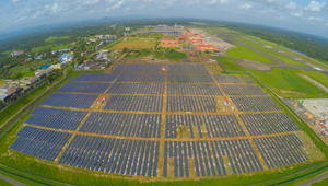 شاهدوا.. أول مطار يعمل بالطاقة الشمسية بالكامل!