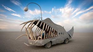 سيارات بشكل حيوانات وكائنات بحرية..لابتلاع البشر