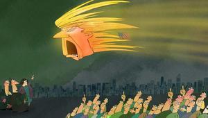 هكذا عبر رسامو الكاريكاتور عن انتصار ترامب وهزيمة كلينتون