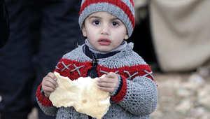 طفل سوري في مخيم الزعتير للاجئين السوريين في الأردن