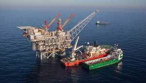 منصة حفر للتنقيب عن الغاز مقابل سواحل إسرائيل