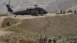 مروحية من نوع بلاك هوك تابعة للقوات الأمريكية في أفغانستان