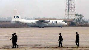 الأمم المتحدة: هبوط طائرة على متنها أول حمولة مساعدات إنسانية إلى أربيل بالعراق