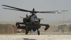 """مصادر لـCNN: الجيش الأمريكي استخدم طائرات الأباتشي لصد هجوم داعش على قاعدة """"الأسد"""" بالعراق"""