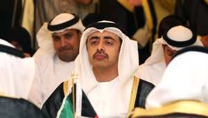 وزير الخارجية الإماراتي عبد الله بن زايد في اجتماع وزراء خارجية دول مجلس التعاون بالكويت 2013