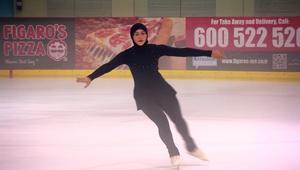 أول متزلجة إماراتية على الجليد نحو الاولمبياد