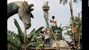 """هل """"سيُنقل"""" تمثال الحرية من نيويورك إلى جاكرتا؟"""