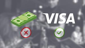 """""""فيزا"""" تدفع 10 آلاف دولار للمطاعم للتخلص من التعاملات النقدية"""