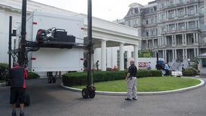 شاهد.. أعمال ترميم في البيت الأبيض