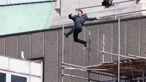 شاهد.. قفزة خطيرة لتوم كروز في تصوير