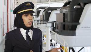 """شاهد.. هذه واحدة من أوائل قائدات الطائرات في """"الاتحاد"""