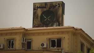مقر جماعة الإخوان المسلمين في مصر بعد تعرضه للتخريب