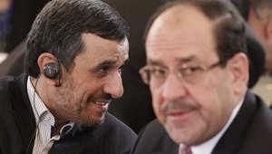 رئيس الوزراء العراقي نوري المالكي والرئيس الإيراني محمود أحمدي نجاد في منتدى الدول المصدرة للغاز في موسكو