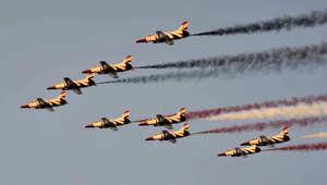 مقاتلات مصرية تحلق فوق ميدان التحرير بالقاهرة ، 7 يوليو/ تموز 2013