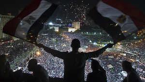 أنصار السيسي في ميدان التحرير في القاهرة
